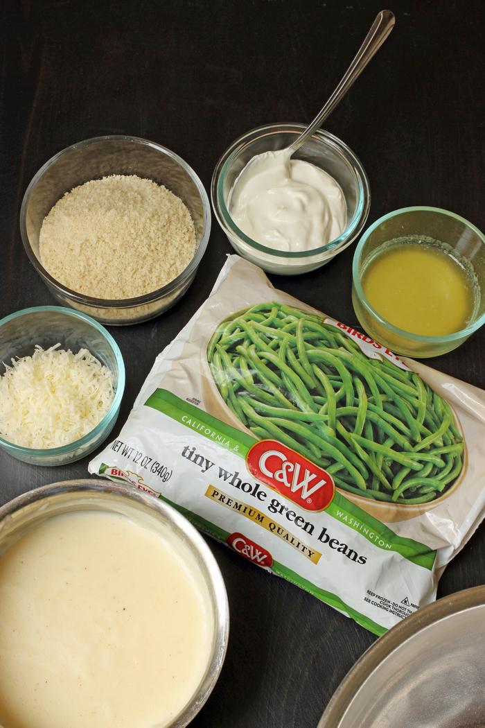ingredients for green bean casserole