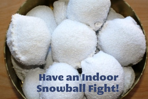 Have an Indoor Snowball Fight!