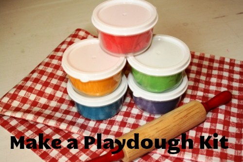 diy gift, playdough kit, homemade playdough