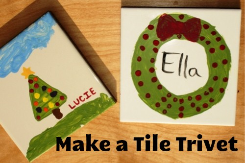 Diy On A Dime Hand Painted Tile Trivets Life As Mom