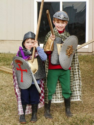 boys with swords