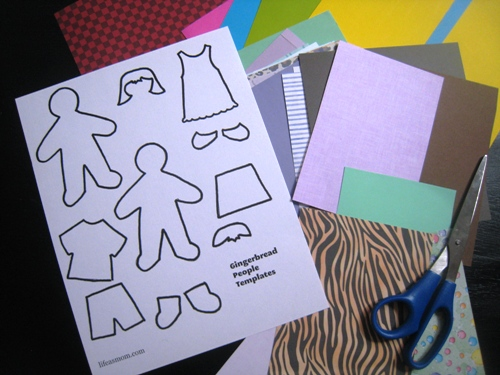 DIY on a Dime: Gingerbread People Paper Dolls