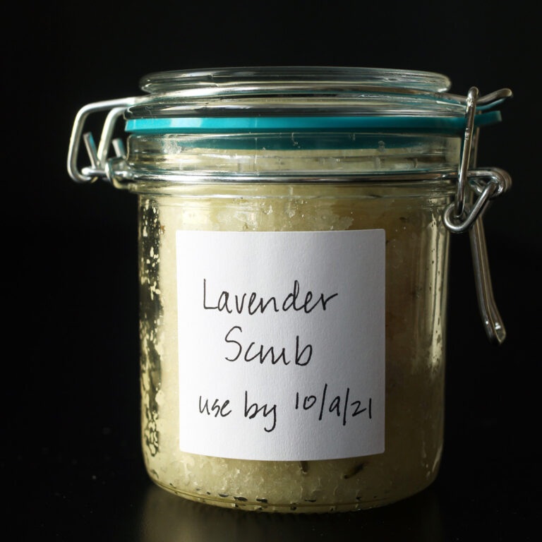 How to Make Lavender Hand Scrub