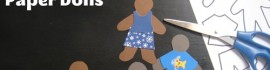 make gingerbread people paper dolls