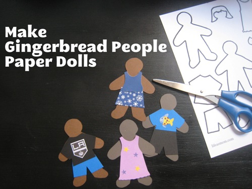 Gingerbread People Paper Dolls | Life as Mom