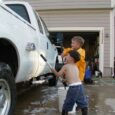 boys washing truck