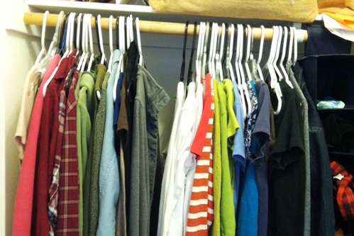 clothes closet before