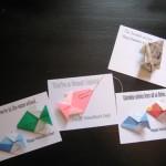 Origami Fish Valentines