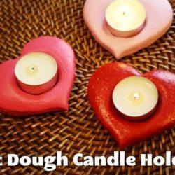 Salt Dough Candle Holders