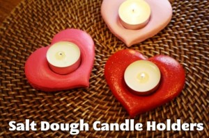 Salt Dough Candle Holders