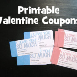 DIY on a Dime: FREE Printable Valentine Coupons