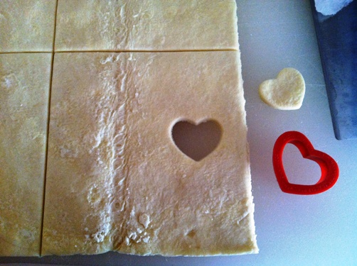 puff pastry heart