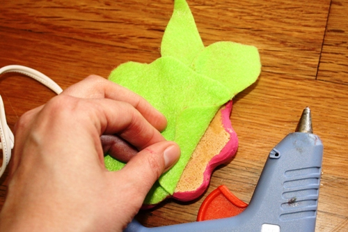 Adding Felt to Salt Dough Candle Holders