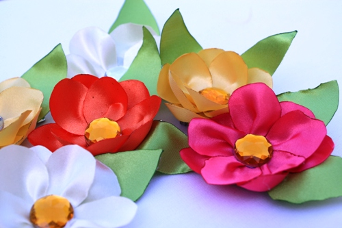 DIY Satin Flowers