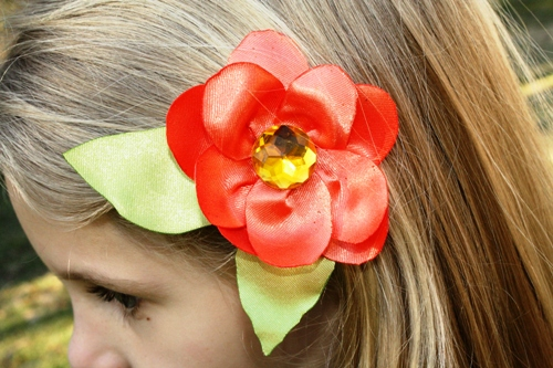 Satin Flower Hairclip