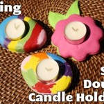 Spring Salt Dough Candle Holders
