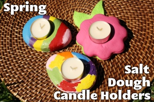 Spring Salt Dough Candle Holders | Life as Mom