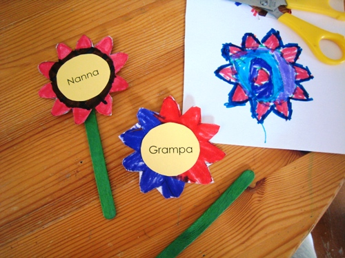 child's flower pot placecards