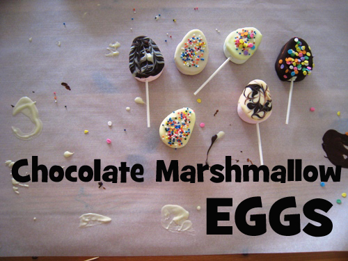 diy on a dime chocolate marshmallow eggs