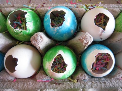 eggs with confetti