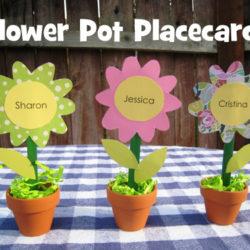 flower pot placecards