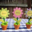 flower pot tablescape
