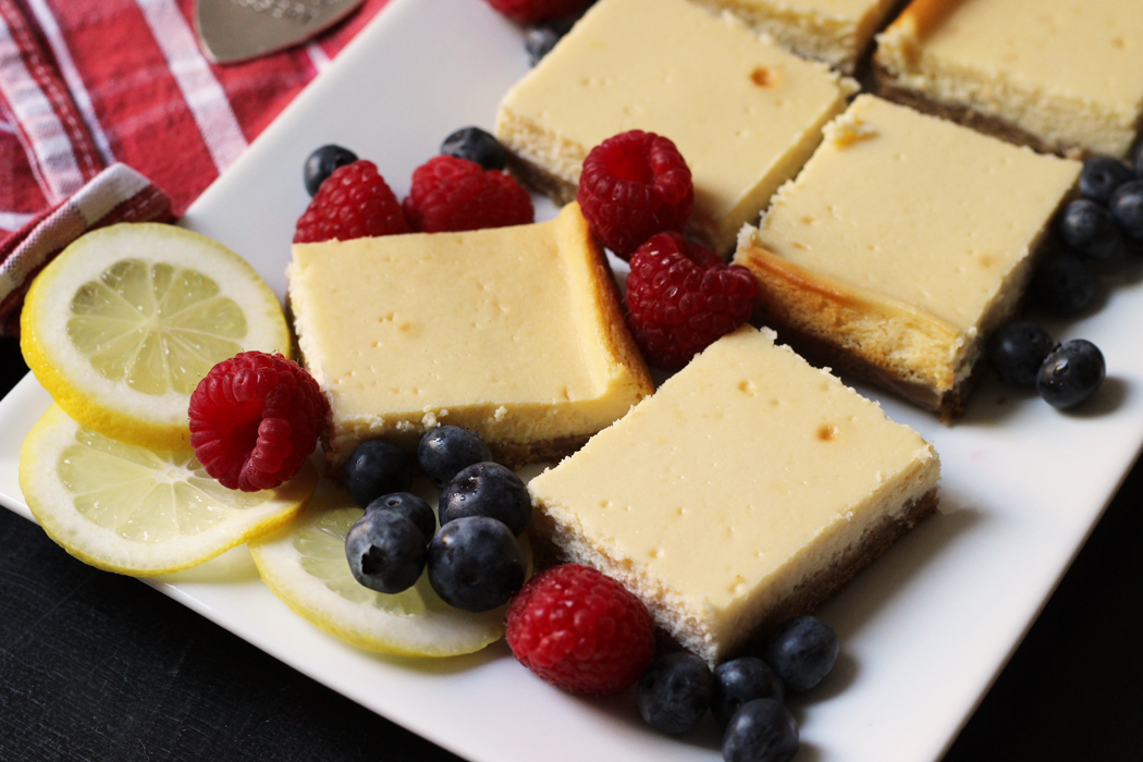 Honey Lemon Cheesecake Bars | Life as Mom