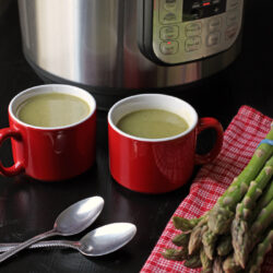 Creamy Dairy-Free Asparagus Soup (Stovetop and Pressure Cooker Instructions)