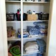 clean linen cupboard