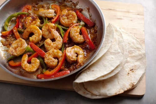 fresh dish shrimp fajitas