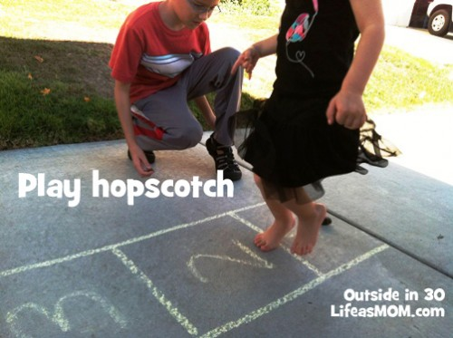 get out play hopscotch