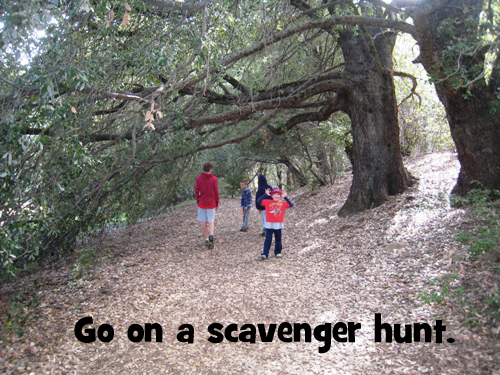 go on a scavenger hunt