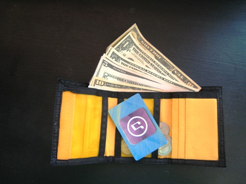 kids wallet with money