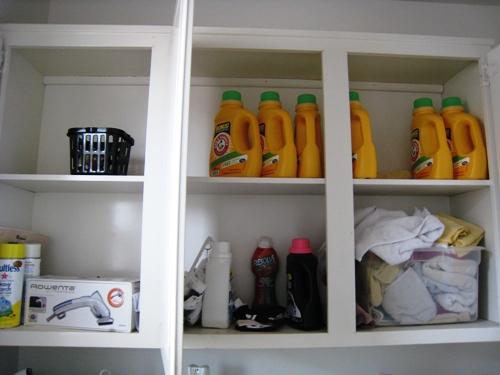 laundry shelves before