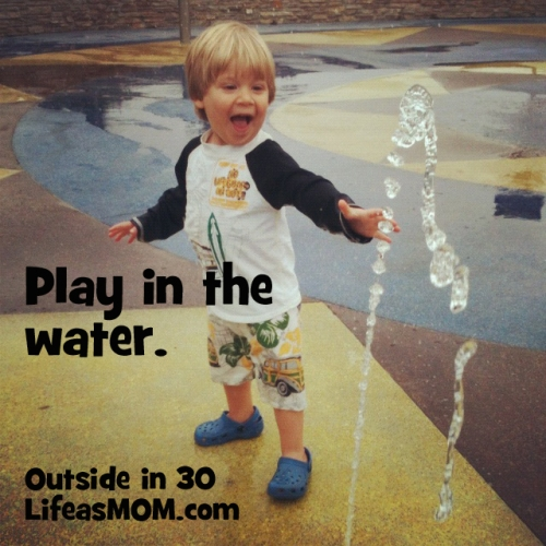 play in the water