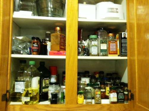 spice cupboard after