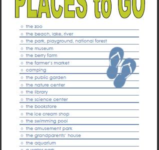 places to go checklist