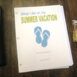 summer fun journals