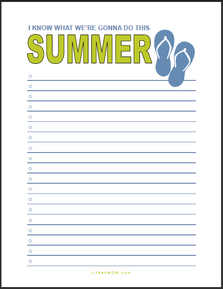 summer to do list