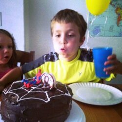 week in review spidey birthday cake