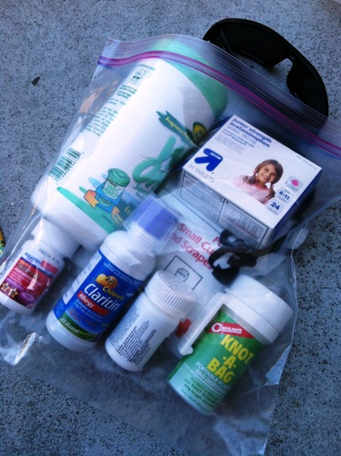 first aid and meds for car