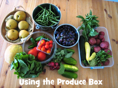 using the produce box