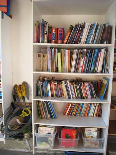 book shelf after