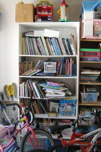 book shelf before