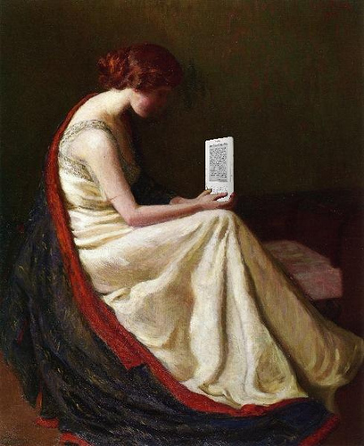 mike licht kindle reader woman