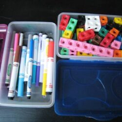 school supplies organized