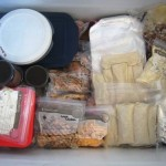 Freezer meals in the freezer