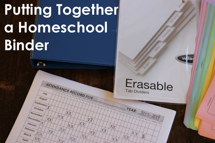 Putting Together a Homeschool Binder - Life as MOM