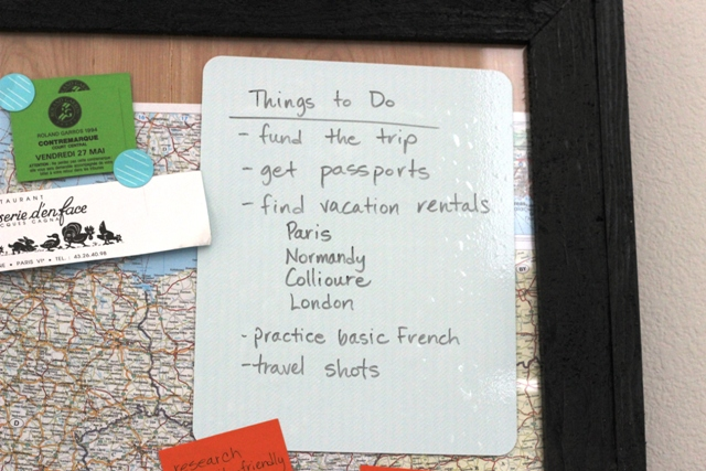 To Do List for European Vacation