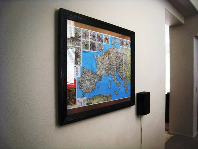 custom framed map